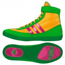 Adidas Combat Speed 4 Wrestling Shoes, color: Gold/Pink/Lime