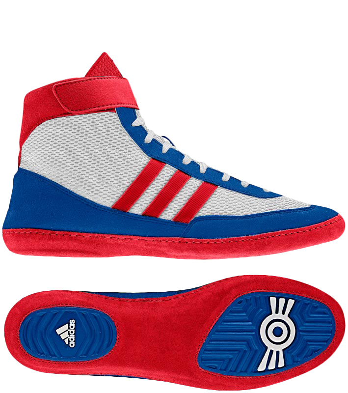 Adidas Combat Speed 4 Wrestling Shoes, color: White/Red/Blue